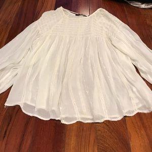 Zara top loose off white